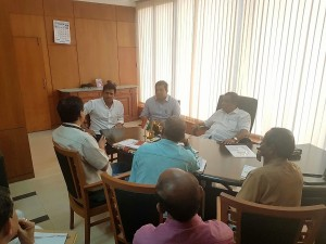 Meeting with PWD officials